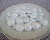 Pearly White Glass Iridized Mix White Glass Gems Whitle Glass Gems Mix White Glass Gems Mosaics Crafts Jewelry