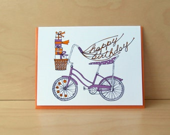 Banana Bike birthday card