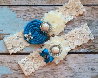 wedding garter / vivid blue  / bridal  garter/  lace garter / toss garter /  garter / vintage inspired lace garter/ U PICK COLOR