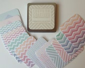 12 Ombre Chevron Coasters with Tin