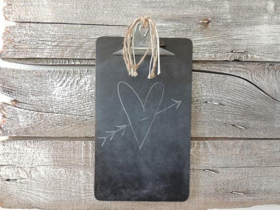 Shabby Farmhouse Chic Vintage Clipboard Chalkboard