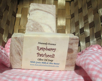 Rasberry Patchouli Olive Oil Goat Milk Soap