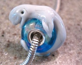 RESERVED for kbirdmom ... 3 beluga whale bhb beads