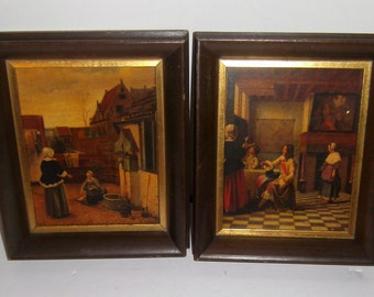 Framed Dutch Prints - Pieter de Hooch - The Court Yard - Interior Of A Dutch House - Old Art Prints - Vintage Art - Home Decor - Art Prints