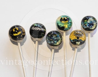 3D Batman super hero Lollipops® by Vintage Confections