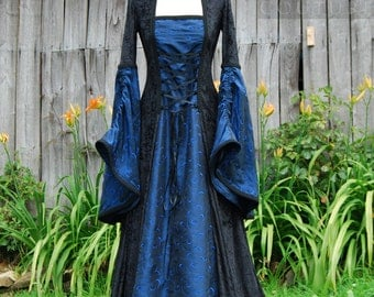 Medieval Gothic inspired Dress Custom made in sizes XS-XXL & choice of colours