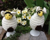 Beehive Egg Cosy, Egg Warmers- Set of 2 knitted egg cosies