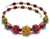 Tutorial Beaded Bead Jewelry DIY PDF Pattern, Necklace, Embellished Plum Blossom Beaded Beads