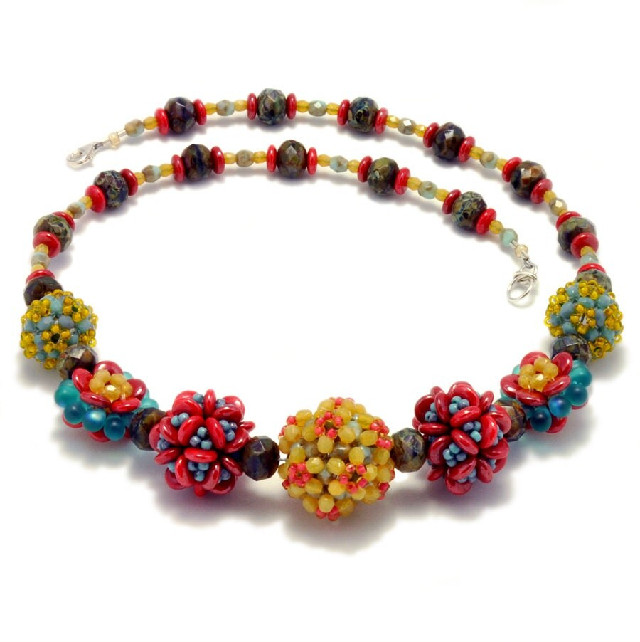 Diy Beads: Jewelry Making Necklace Tutorial Embellished Beaded Bead