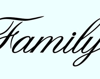 Family stencil word stencils backgr ound pattern template templates