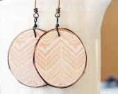 Fallen Branch Earrings Eco fashion Minimalist style jewelry Pale peach jewelry Boho wooden earrings VERY Limited DeSiGN . SNoeS