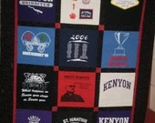 Custom Tee Shirt Quilt Made Using Your Tee Shirts