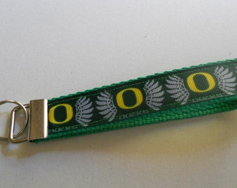 Oregon Ducks Key Fob -  U of O Ribbon