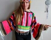 Mexican Serape Rainbow Wo...