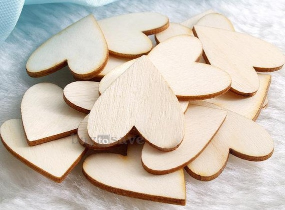 20pcs unfinished wooden wood heart shape pieces craft by for Unfinished wood pieces for crafts
