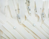 """7"""" Wholesale - 40 zippers YKK # 3 Skirt and Dres s# 801 Off White~ZipperStop Wholesale Authorized Distributor YKK®"""