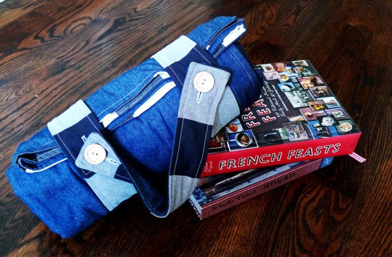 Organic Picnic Blanket ADD-ON: Organic Denim and Flannel for Your Picnic Blanket - Eco Friendly Picnics
