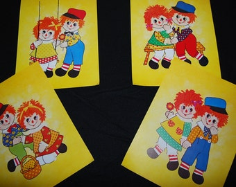 Vintage Raggedy Ann and Andy 1970s Prints