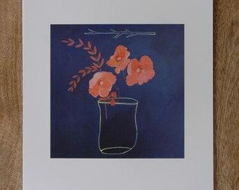 vintage vase print