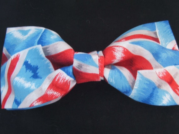 British UK Union Jack Flag Stylized Pattern Bow Tie Adjustable Pretied BowTie New Handcrafted Gustys