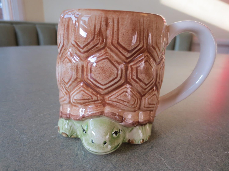 Vintage mug turtle mug otagiri mug ceramic made in japan for Animal shaped mugs
