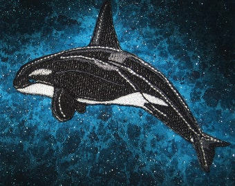 Cute Orca Whale Iron on patch