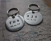 The Stanley Key Chain - Custom Message Hand Stamped Key Chain - Medium