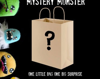 Mystery Plush - Small Monster Surprise Plushie Grab Bag Cute Zombie Kawaii Stuffed Toy