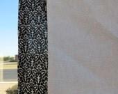 Black and Linen  Half Apron So modern