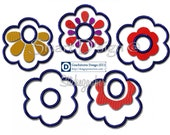 """ITH Project 5 x Towel Topper Flowers Designs Embroidery File 10x10cm / 4x4"""" Hanger"""