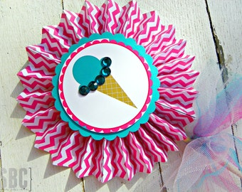 Ice Cream Scoop Pinwheels...Set of 1 Centerpiece Pinwheel