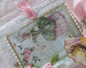 Marie Antoinette Lace Journal Shabby Rose Journal  With Pink Ribbons