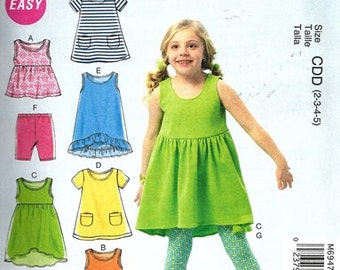 SUMMER CLOTHES PATTERN / Make Girls Dress - Tops - Pants - Shorts / Toddler 2 to Child 8