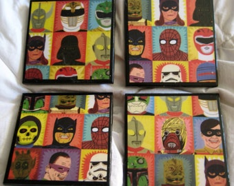 Heroes and Villains Awesome Coaster Set