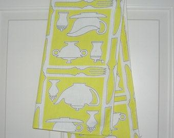 Vintage Yellow Tea Towel
