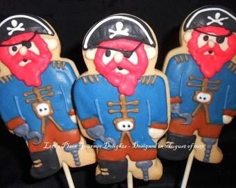 Pirate Cookies - Cookie Pops - 12 cookies