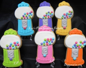 Gumball Machine Cookies - 12 Cookies