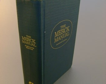 Vintage Hardback The Merck Manual of Diagnosis and Therapy Book, Eleventh Edition 1966