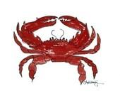 Red Crab Print