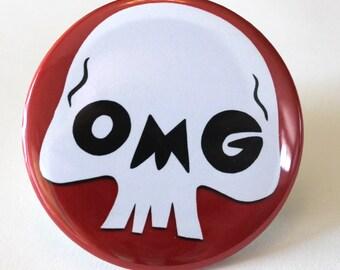 SALE - OMG Skull Pocket Mirror