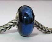Shiny Blue Silver Cored Charm Bead - SRA - UK