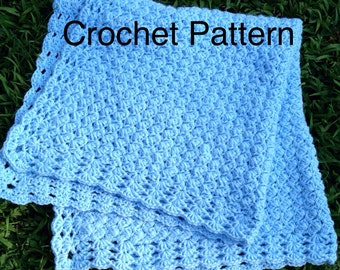 Crochet Baby Blanket Patterns Worsted Weight Yarn : Popular items for crochet afghan patterns on Etsy