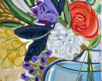 """12""""x12"""" Floral Giclee on Fine Art Paper """"Emilies Blooms"""""""
