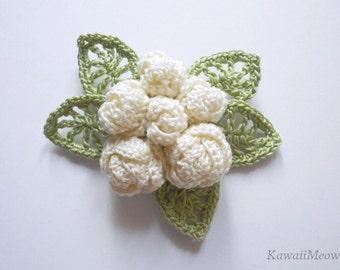 Kawaii Corsage Brooch Elegant Roses - Off-White -