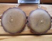 Big Beautiful Earthy Wood Earrings-  Reclaimed Sassafras Wood Earrings.....Zx3