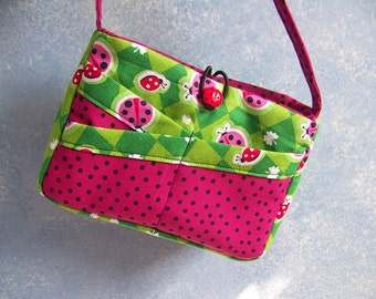 Child's Ladybug Purse-easy sewing pdf pattern and Tutorial with Immediate Download e-file