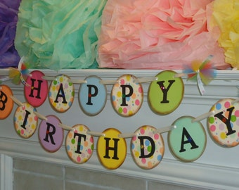 Happy Birthday Sign-Happy 1st Birthday-Birthday Banner-Vintage Birthday-Party Banners-Birthday Decorations-Birthday Photo Prop-Birthday Sign