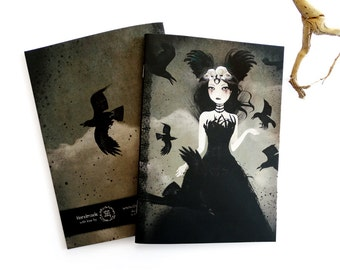The Crow Queen - A5 Handmade Notebook