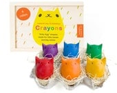 Babys First Colors - 6 Beeswax Crayons - NEW packaging!