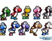 Yoshi - Super Mario World 2 - Perler Bead Sprite Decorations